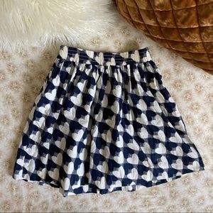 Crewcuts | Girls' heart-print pull-on skirt